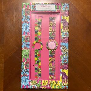 Lilly Pulitzer Interchangeable Watch Set NEW